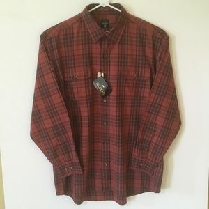 NWT RedHead Pigment Dyed Long Sleeve Button Down